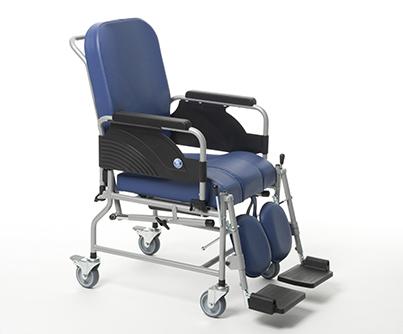 Sedia a rotelle comoda wc bagno vermeiren ruote da 100 for Sedia a rotelle ruote piccole